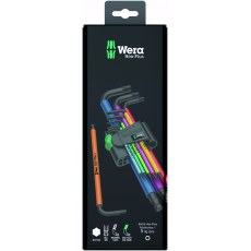 Wera 9 Piece Hex-Plus Multicolour Key Set 1 SB 950 Ball End,  Metric BlackLaser