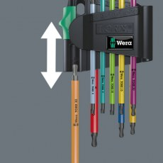 Wera 9 Piece TX BO Multicolour 1 SB Key Set tamper-proof TORX® screws, BlackLaser