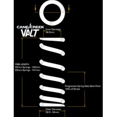 Cane Creek VALT Progressive Lightweight Spring 55mm Stroke